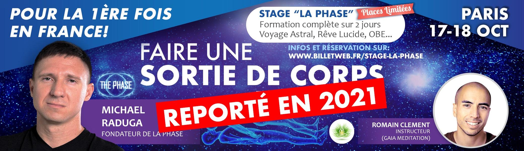 Stage La Phase - Faire une sortie de corps en 2 jours
